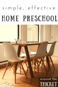 At home preschool can be very simple and super effective - perfect for busy parents who want the best for their kids.
