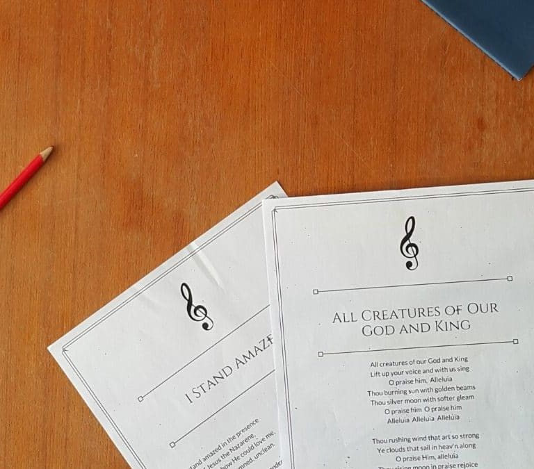 How I Teach Hymns and Folk Songs in my Charlotte Mason Homeschool