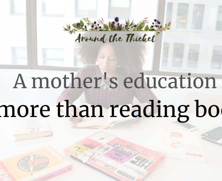 A mother's education is more than reading books.