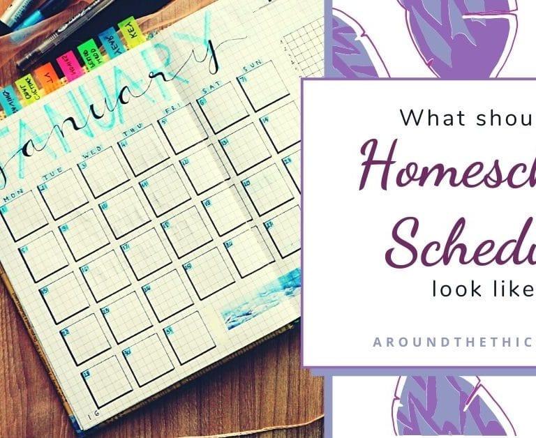 What should a homeschool schedule look like?